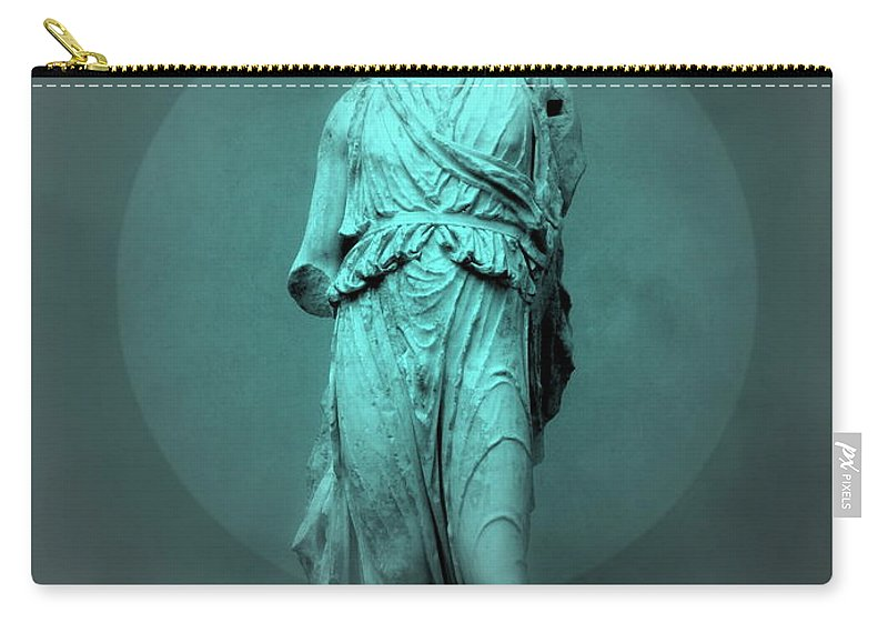 Figurine Carry-all Pouch featuring the photograph Still Life - Robed Figure by Kathleen Grace