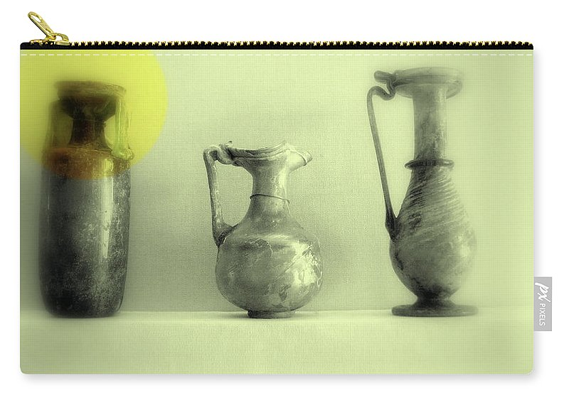 Vase Carry-all Pouch featuring the photograph Still Life - Roman Pitchers by Kathleen Grace