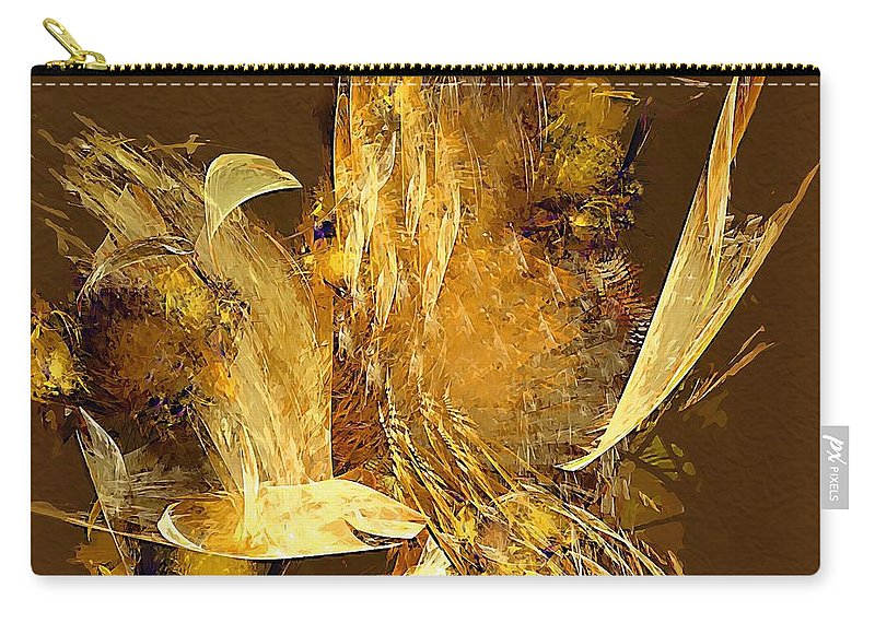 Painting Carry-all Pouch featuring the digital art Still Life by Marek Lutek