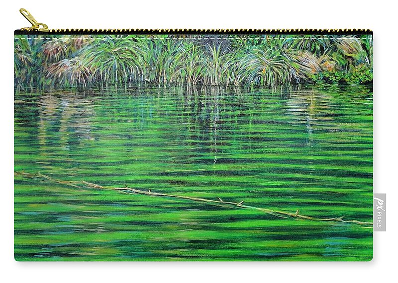 Still Waters Carry-all Pouch featuring the painting Still Waters by Usha Shantharam