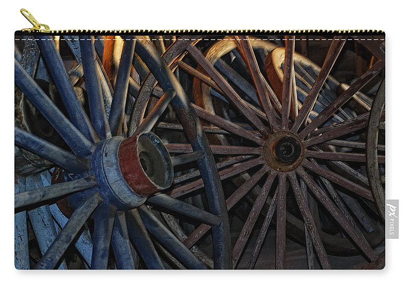 Wheels Carry-all Pouch featuring the photograph Still Willing To Be Wheelin' by Susan Capuano