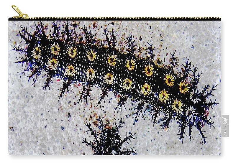 Caterpillar Carry-all Pouch featuring the digital art Stinging Caterpillars by Lizi Beard-Ward