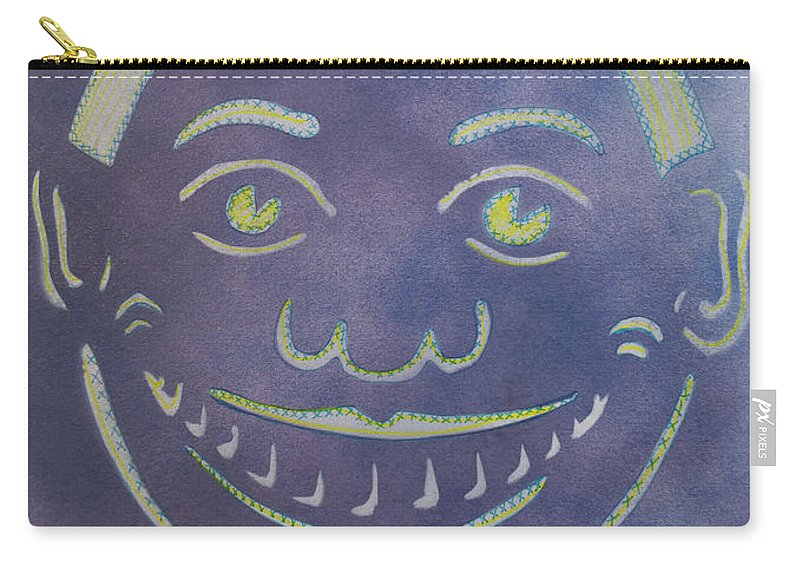 Tillie Of Asbury Park Carry-all Pouch featuring the painting Stitches Tillie by Patricia Arroyo