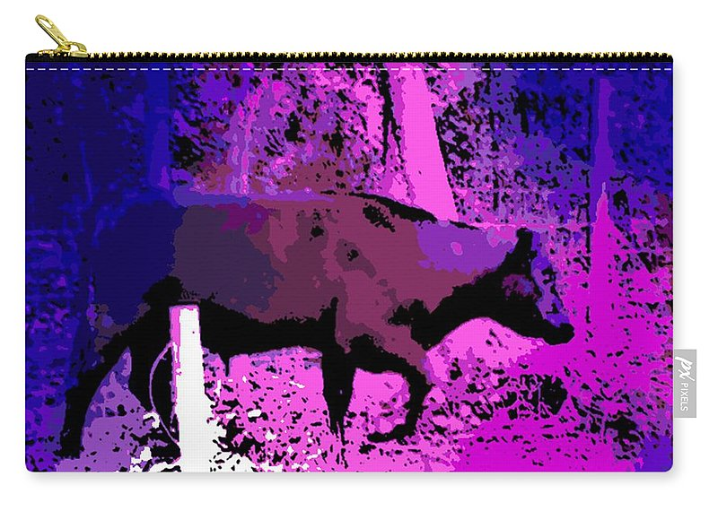 Bull Carry-all Pouch featuring the photograph Stomping Through The Garden. by George Pedro
