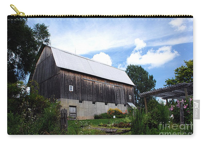 Stone Cottage Carry-all Pouch featuring the photograph Stone Cottage Barn by Grace Grogan