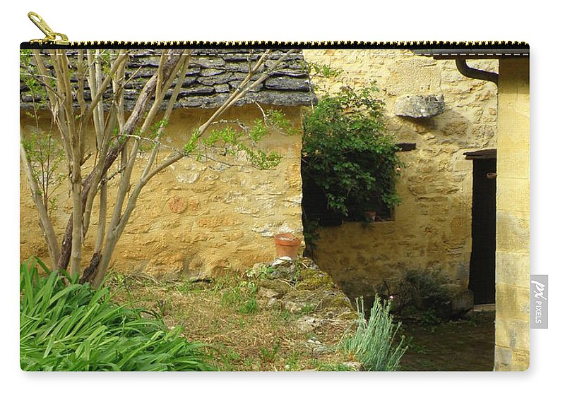 Stairs Carry-all Pouch featuring the photograph Stone Stairs To Hamlet by Lainie Wrightson