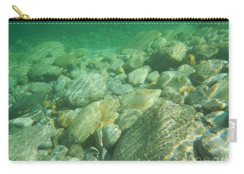 Stones Carry-all Pouch featuring the photograph Stones Under The Water by Mats Silvan