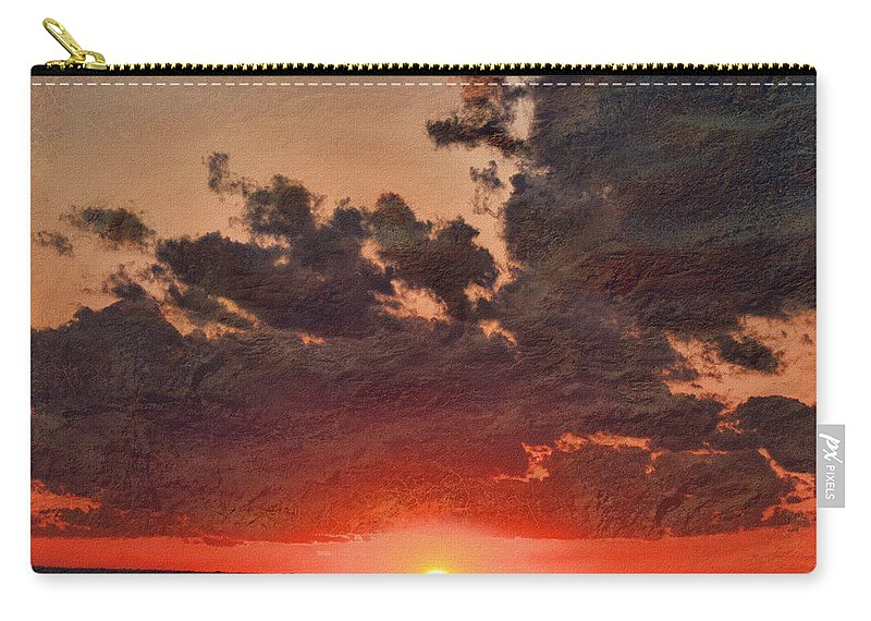 Morning Carry-all Pouch featuring the digital art Stony Clouds by Debbie Portwood