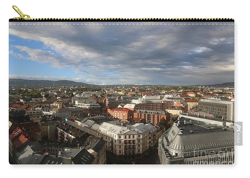 Oslo Carry-all Pouch featuring the photograph Storm Approaching Oslo by Carol Groenen