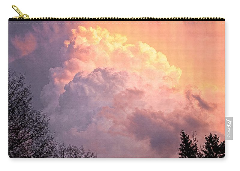 Art Carry-all Pouch featuring the photograph Storm Cloud Moving In On West Michigan by Randall Nyhof