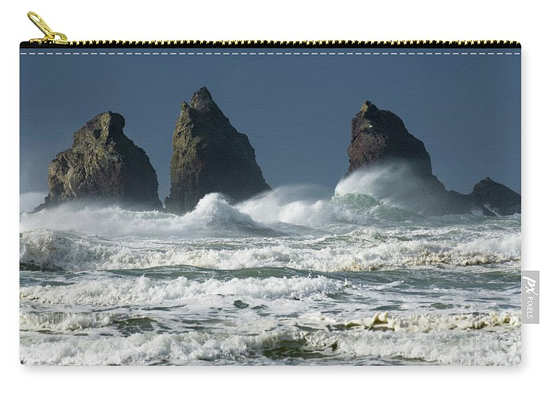 Rocks Carry-all Pouch featuring the photograph Storm Warning by Bob Christopher