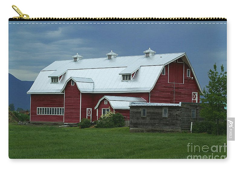 Barns Carry-all Pouch featuring the photograph Stormy Barnyard by Randy Harris