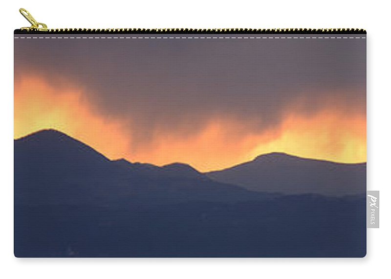 Sunset Carry-all Pouch featuring the photograph Stormy Sunset by Ian Middleton
