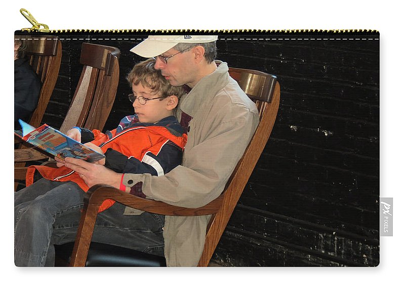 Dad Carry-all Pouch featuring the photograph Story Time by Darleen Stry