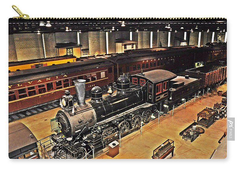 Strasburg Railroad Museum Carry-all Pouch featuring the photograph Strasburg Railroad Museum by Bill Cannon