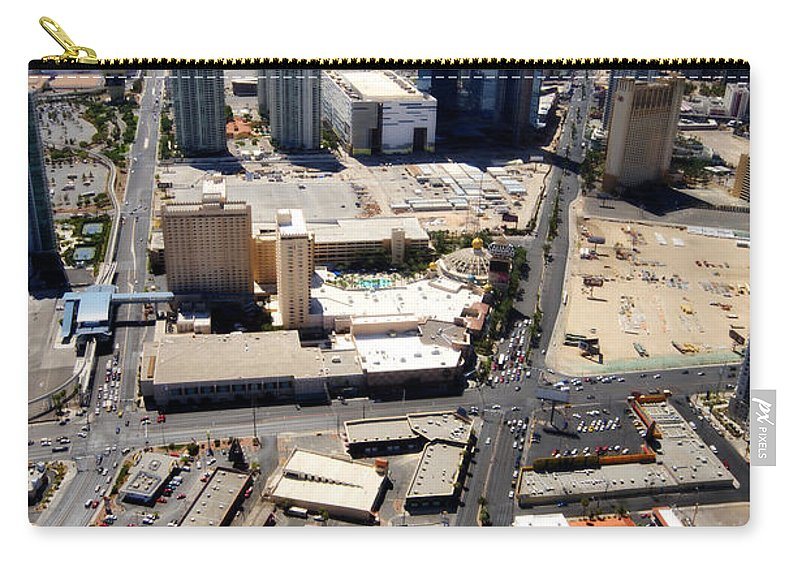 Las Vegas Carry-all Pouch featuring the photograph Stratosphere View 2 by Jessica Velasco