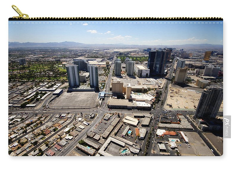 Las Vegas Carry-all Pouch featuring the photograph Stratosphere View 3 by Jessica Velasco