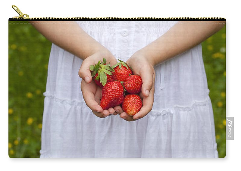 Girl Carry-all Pouch featuring the photograph Strawberries by Joana Kruse