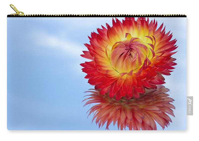 Abstract Carry-all Pouch featuring the photograph Strawflower Reflection by Heidi Smith