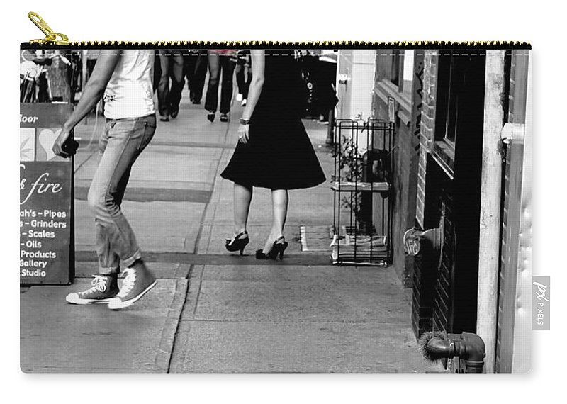Street Carry-all Pouch featuring the photograph Street Farewell by Valentino Visentini