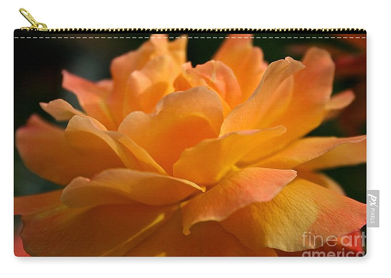 Plant Carry-all Pouch featuring the photograph Strike It Rich Rose by Susan Herber