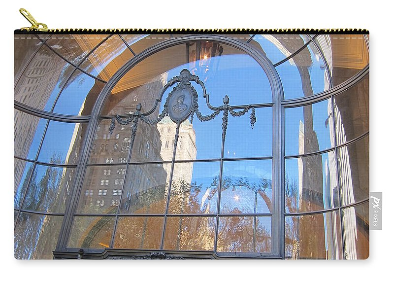 Reflections Carry-all Pouch featuring the photograph Bergdorf's Reflection by Stefa Charczenko