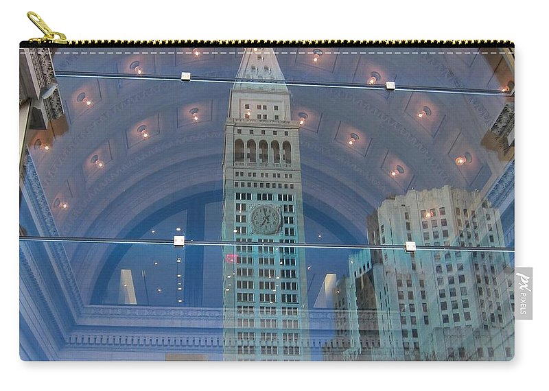 Reflections Carry-all Pouch featuring the photograph Toy Building by Stefa Charczenko