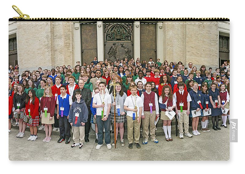 Students Catholic Schools 2007 Carry-all Pouch featuring the photograph Students Catholic Schools 2007 by Mike Penney