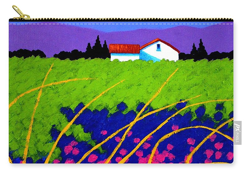 Lavender Carry-all Pouch featuring the painting Study For Provence Painting by John Nolan