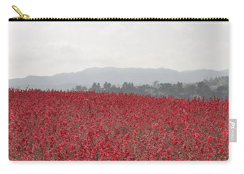 California Carry-all Pouch featuring the photograph Study In Red And Grey by Rich Bodane