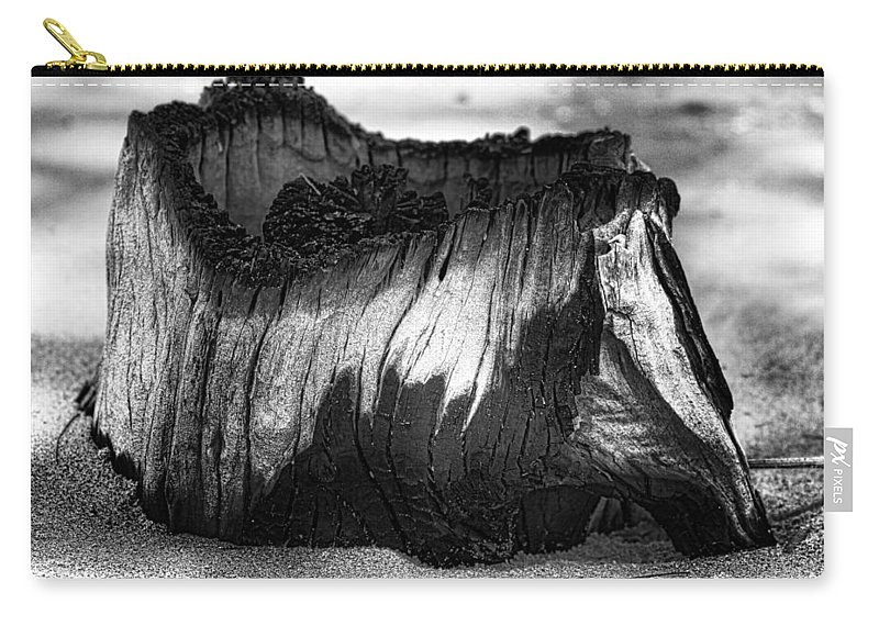 Tree Stump. Stump Carry-all Pouch featuring the photograph Stumped by Douglas Barnard