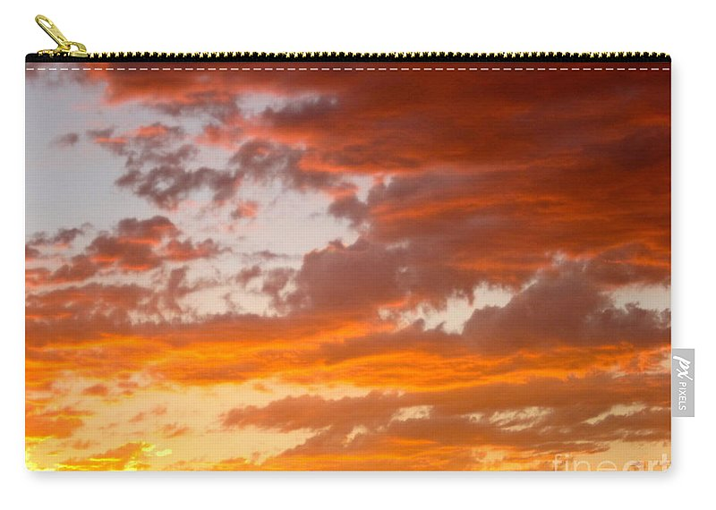 Sunset Carry-all Pouch featuring the photograph Stunning Sunset by Phyllis Kaltenbach