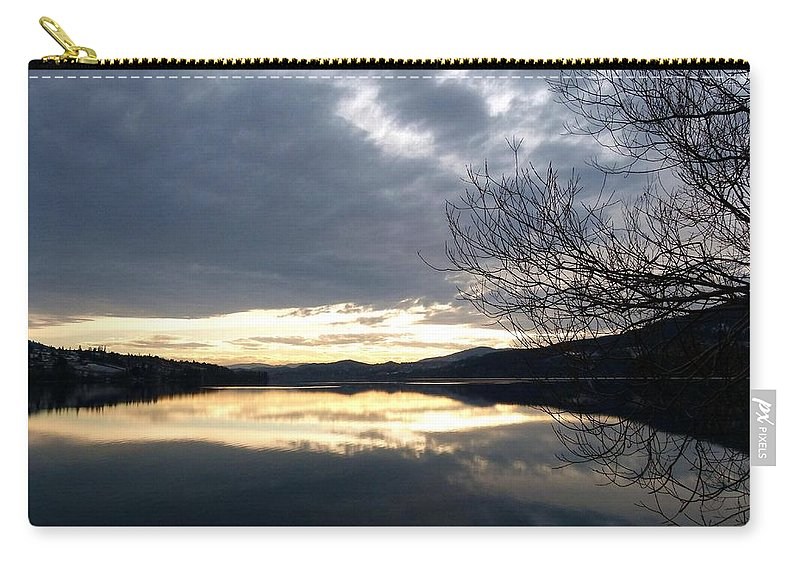Wood Lake Carry-all Pouch featuring the photograph Stunning Tranquility by Will Borden