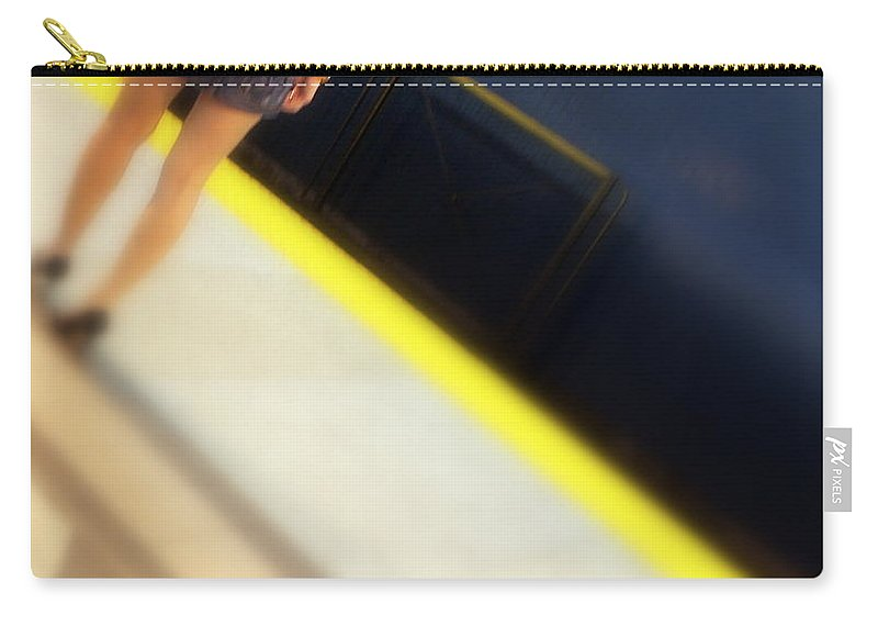 Sexy Carry-all Pouch featuring the photograph Subway Legs by Valentino Visentini