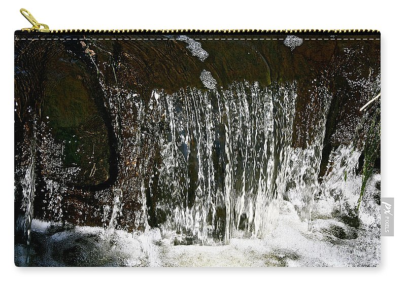 Outdoors Carry-all Pouch featuring the photograph Suds Falls by Susan Herber