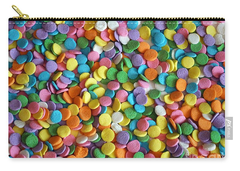 Sugar Confetti Carry-all Pouch featuring the photograph Sugar Confetti by Methune Hively