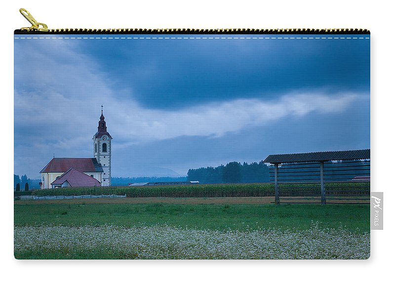 Dusk Carry-all Pouch featuring the photograph Summer Blues by Ian Middleton
