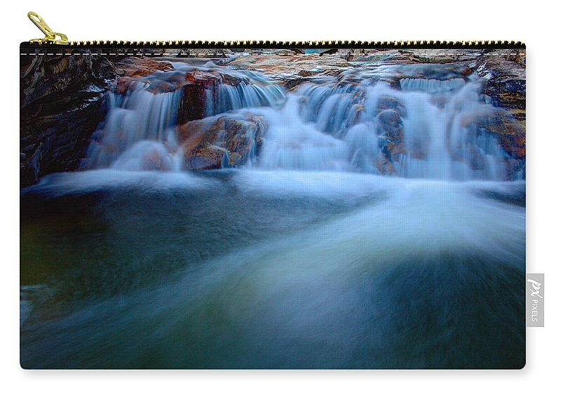 Outdoor Carry-all Pouch featuring the photograph Summer Cascade by Chad Dutson