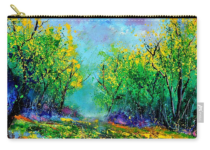 Landscape Carry-all Pouch featuring the painting Summer In The Wood 452160 by Pol Ledent