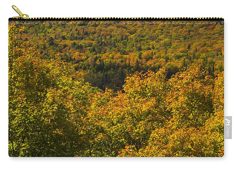 Summit Carry-all Pouch featuring the photograph Summit Peak Autumn 10 by John Brueske
