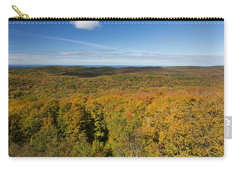 Autumn Carry-all Pouch featuring the photograph Summit Peak Autumn 11 by John Brueske