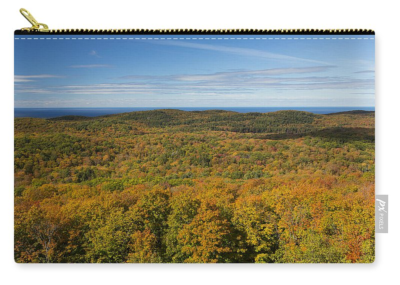 Summit Carry-all Pouch featuring the photograph Summit Peak Autumn 12 by John Brueske
