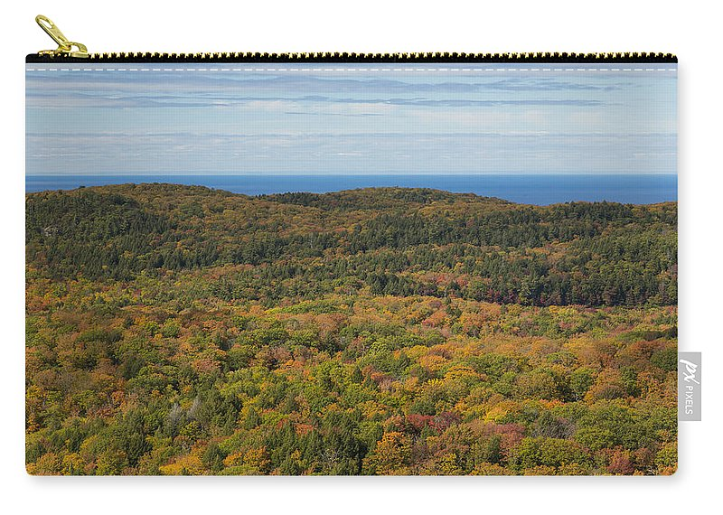 Summit Carry-all Pouch featuring the photograph Summit Peak Autumn 13 by John Brueske