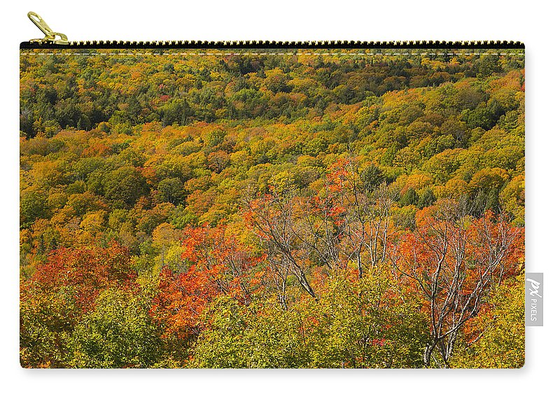 Summit Carry-all Pouch featuring the photograph Summit Peak Autumn 6 by John Brueske