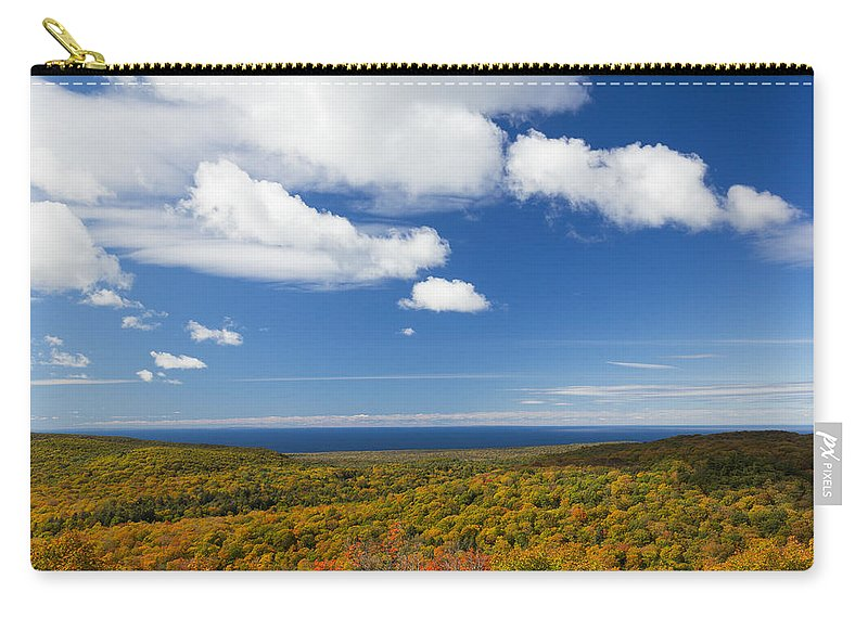 Summit Carry-all Pouch featuring the photograph Summit Peak Autumn 8 by John Brueske