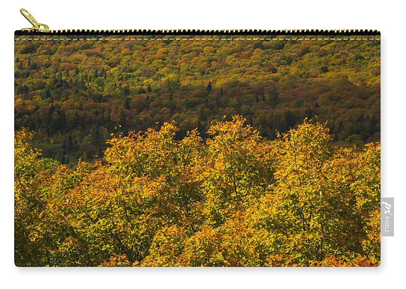 Summit Carry-all Pouch featuring the photograph Summit Peak Autumn 9 by John Brueske