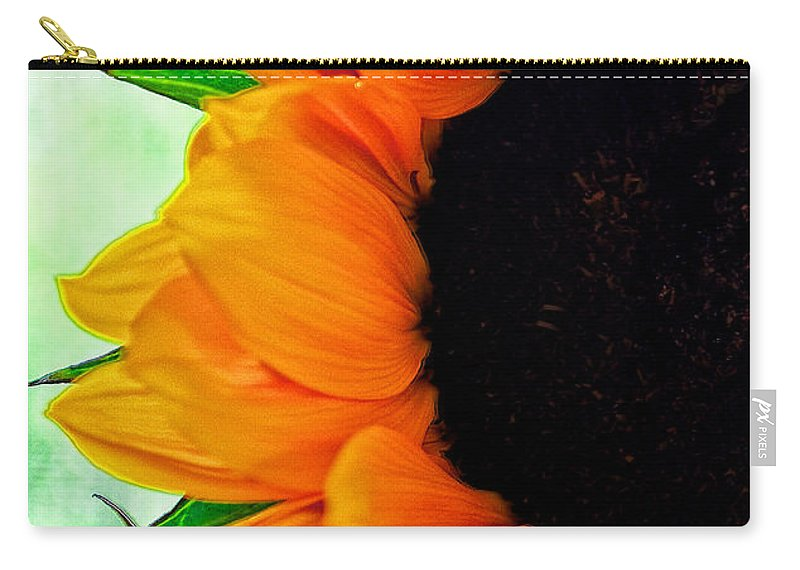 Flower Carry-all Pouch featuring the digital art Sun Flower by Charles Muhle