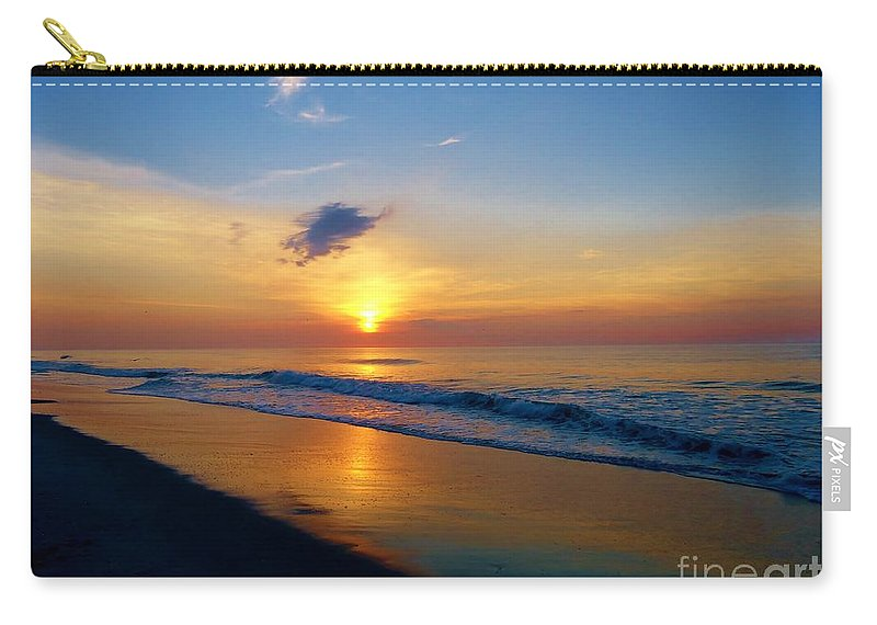 Sunrise Carry-all Pouch featuring the photograph Sun Kissed by Art Dingo