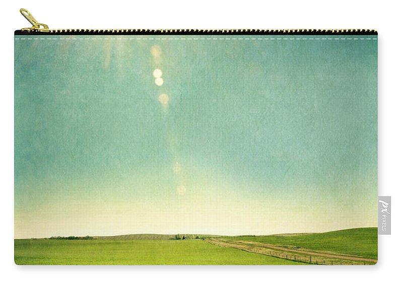 Grass Carry-all Pouch featuring the photograph Sun Over Field by Jill Battaglia