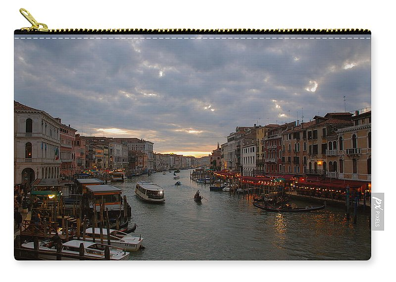 Sunset Carry-all Pouch featuring the photograph Sun Sets Over Venice by Eric Tressler
